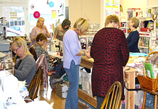 social sewing in Durham