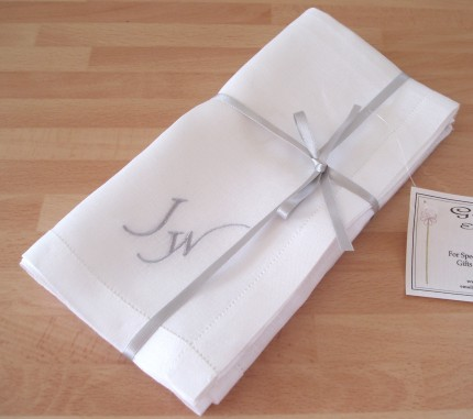 Gentleman's Irish Linen Handkerchiefs with Punched Hem