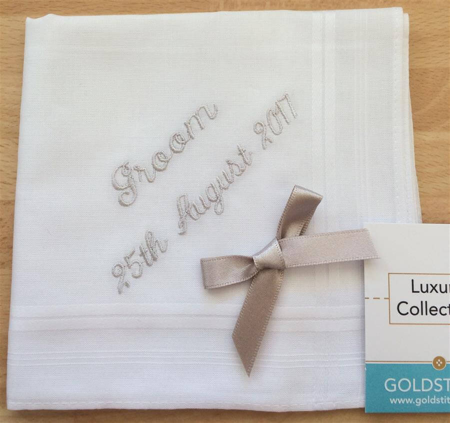 Message Luxury Cotton Handkerchief