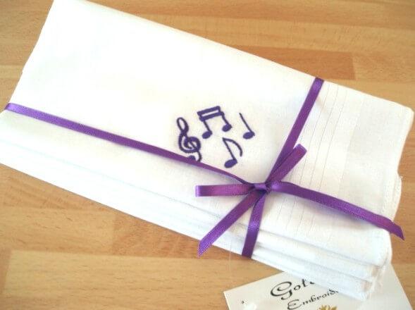 Music notes handkerchiefs