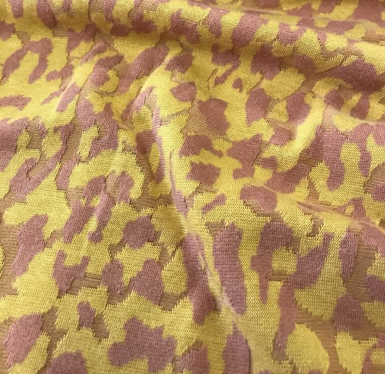 Fabric Gold Camouflage Print