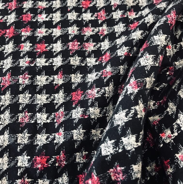 Fabric Dogtooth Pink Splash