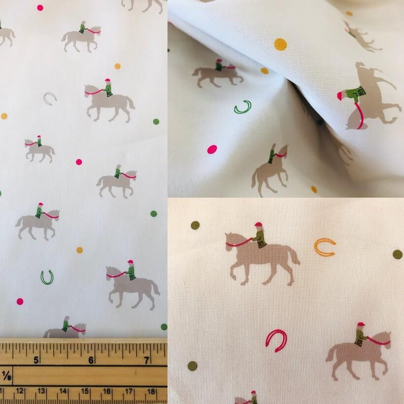 Fabric Horse Riding Print