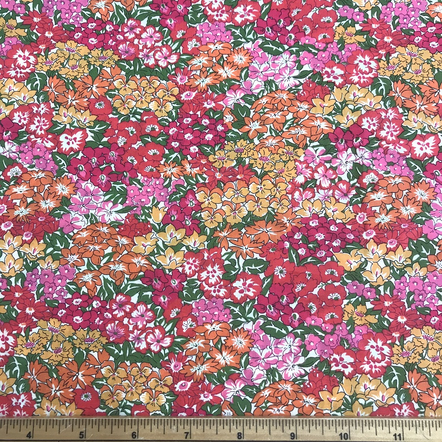 Fabric Liberty Cotton Lawn Garden Wonderland Design