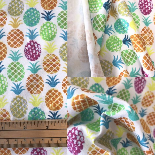 pineapple fabric in stretch jersey