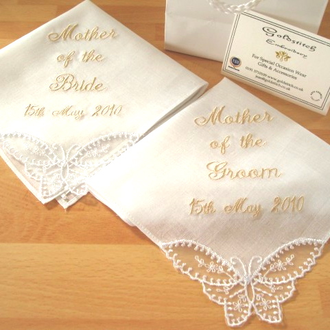 Mother of the Bride Butterfly Handkerchief