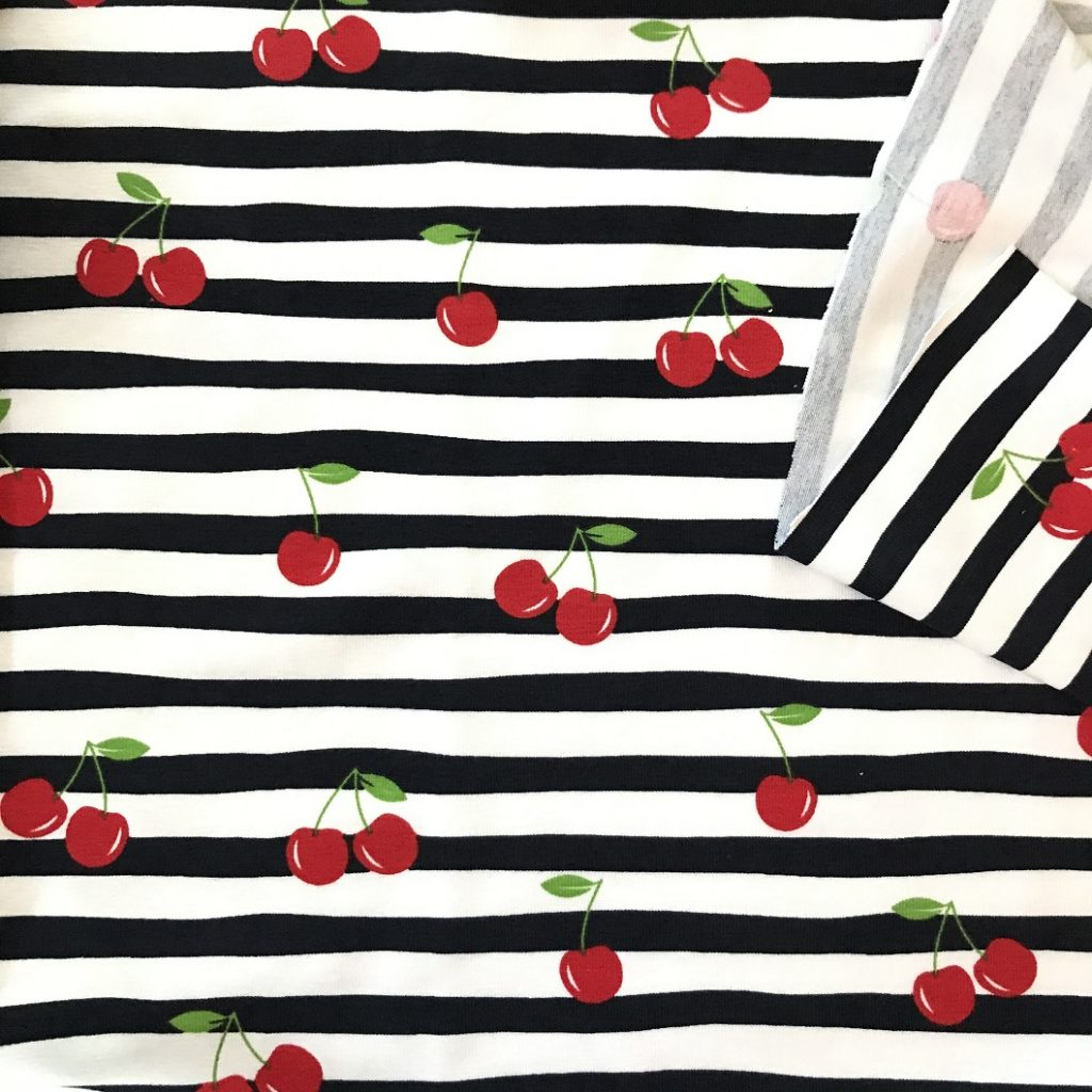 Fabric Cherries Cotton Stretch Jersey