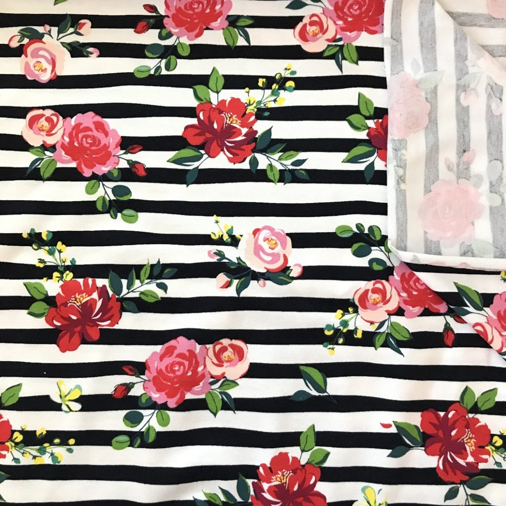 Fabric Roses Cotton Stretch Jersey