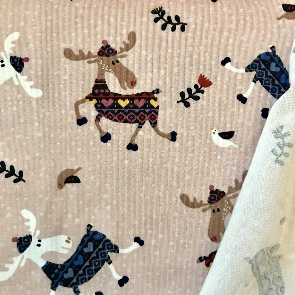Fabric Pink Reindeer Jersey