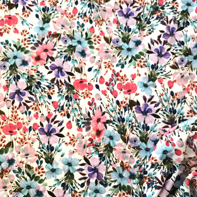 Fabric Floral Jersey