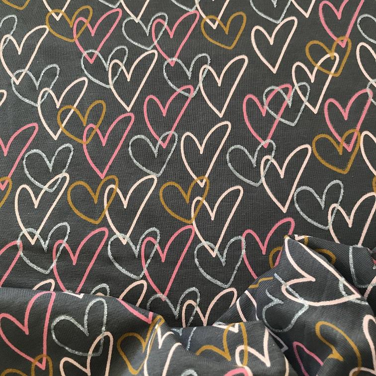 Fabric Jersey Hearts
