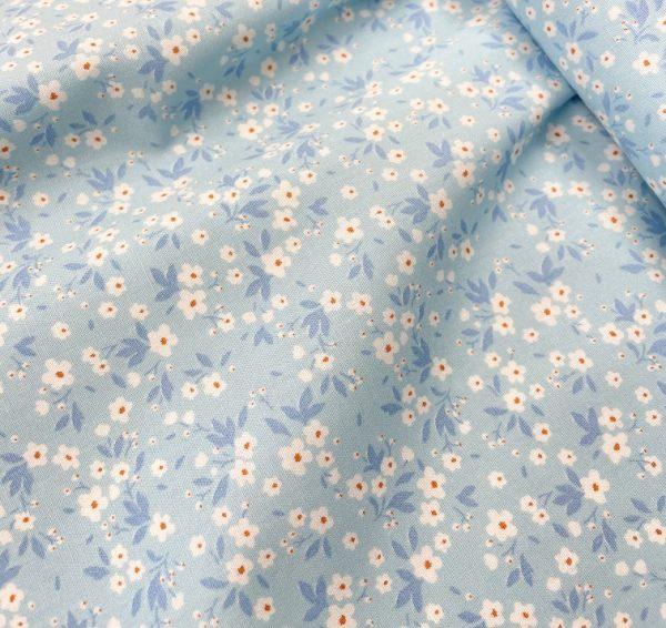 pale blue floral fabric