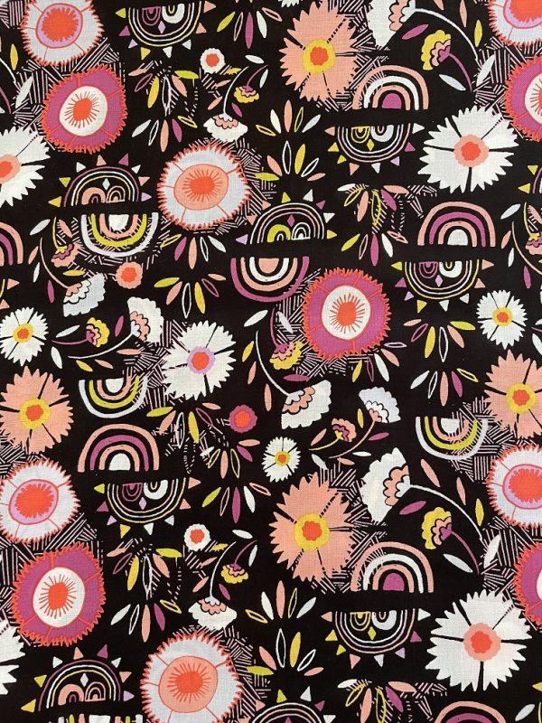 floral rainbow fabric