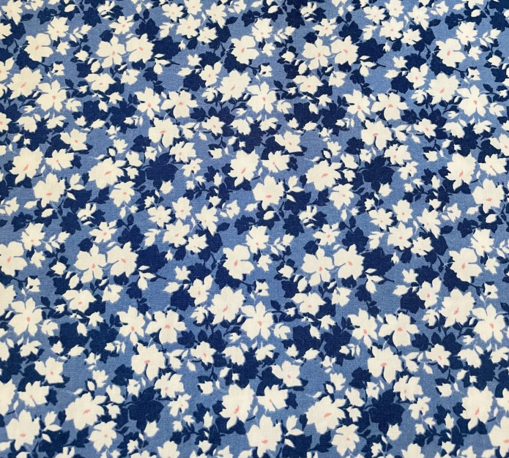 Fabric Blue & White Floral Print
