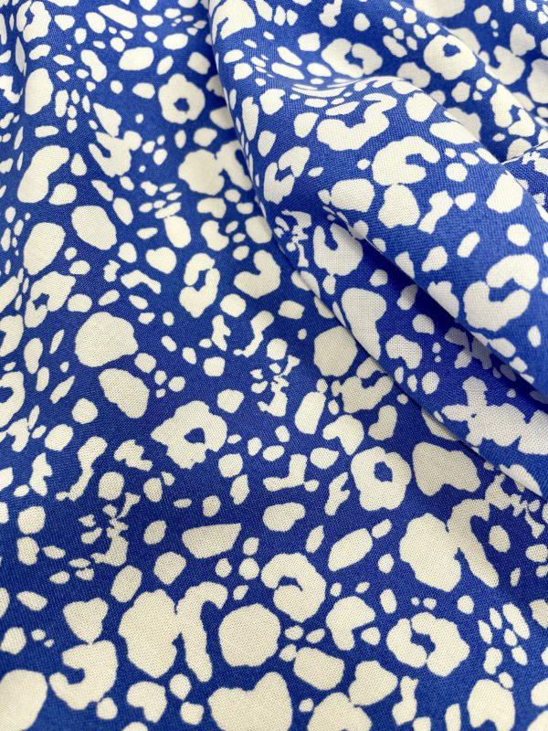 blue and white viscose print