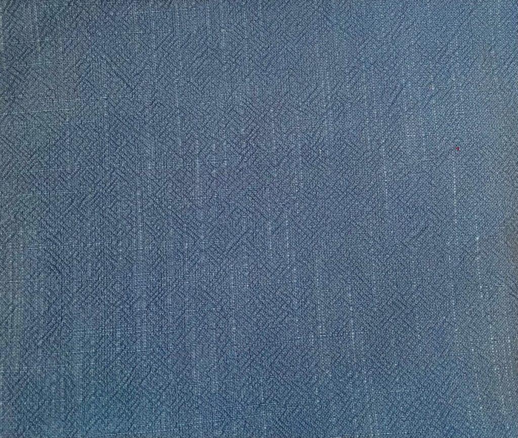 Fabric Stonewashed Denim Blue Linen