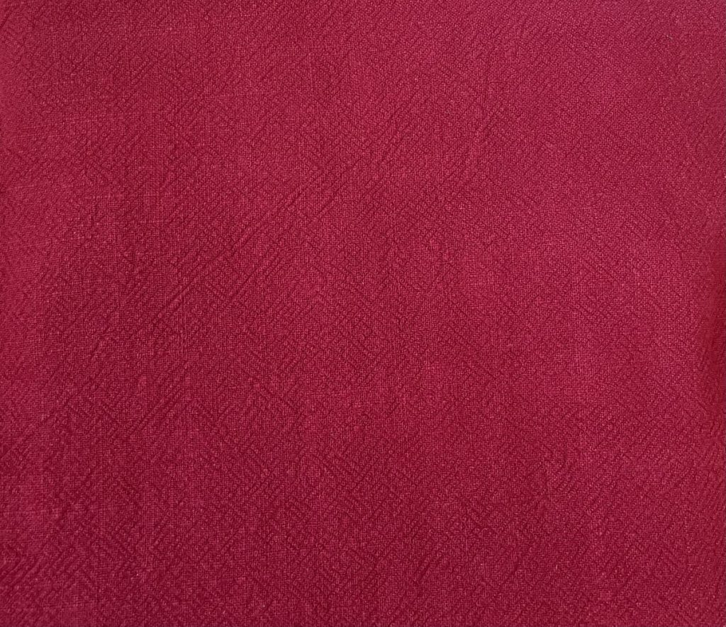 Fabric Stonewashed Red Linen