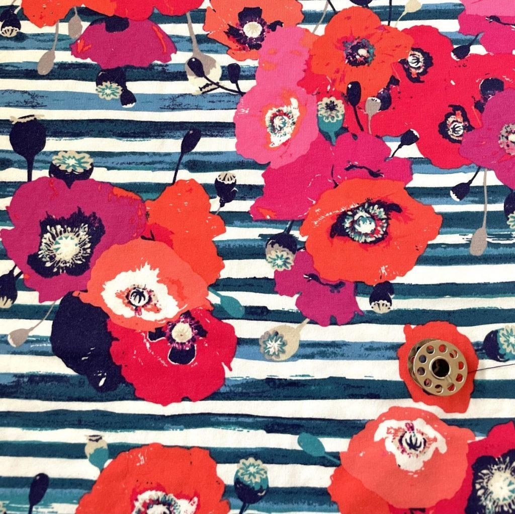 Fabric Art Gallery Jersey Skopelos Crimson