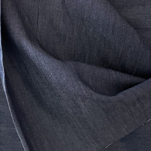 Fabric Chambray in Navy Blue