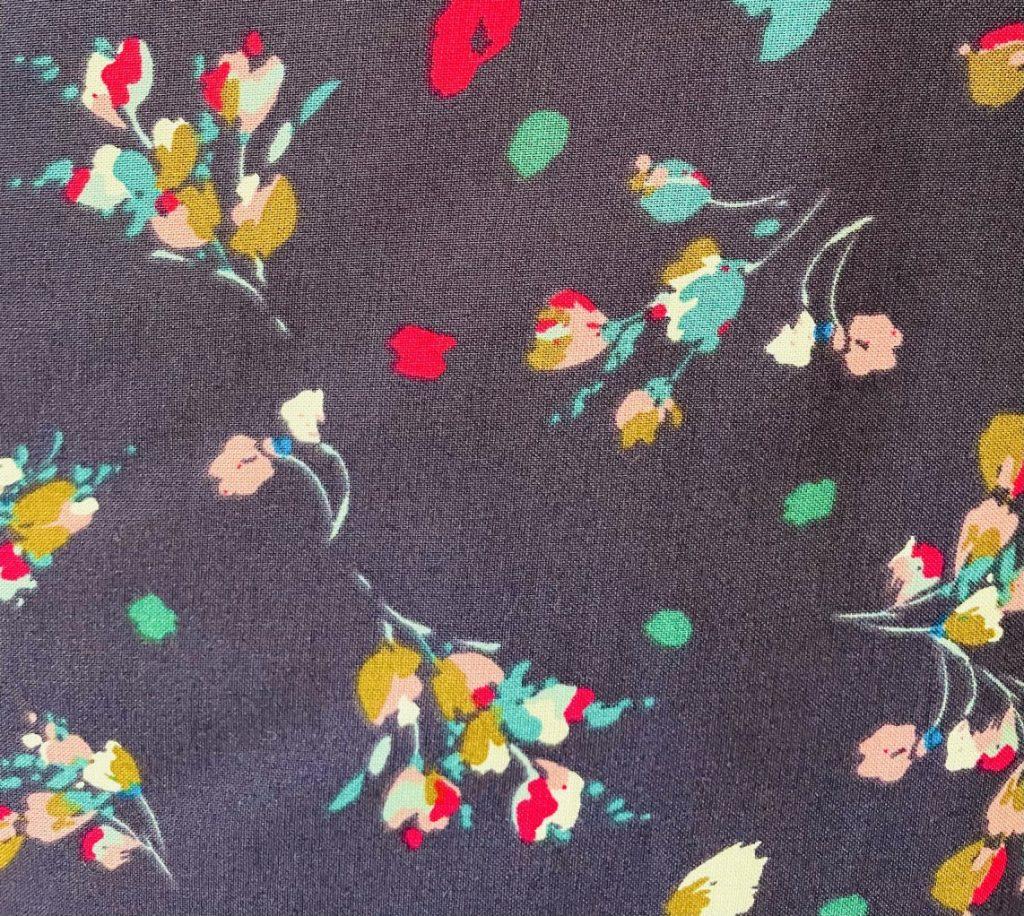 Fabric Indigo Floral Print