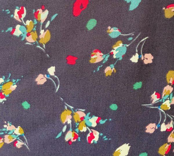 indigo floral viscose