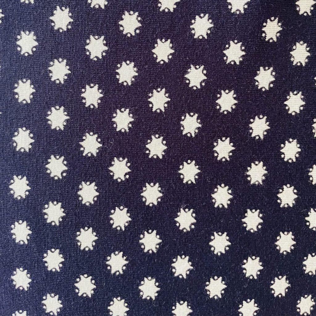 Fabric Navy & White Star Jersey