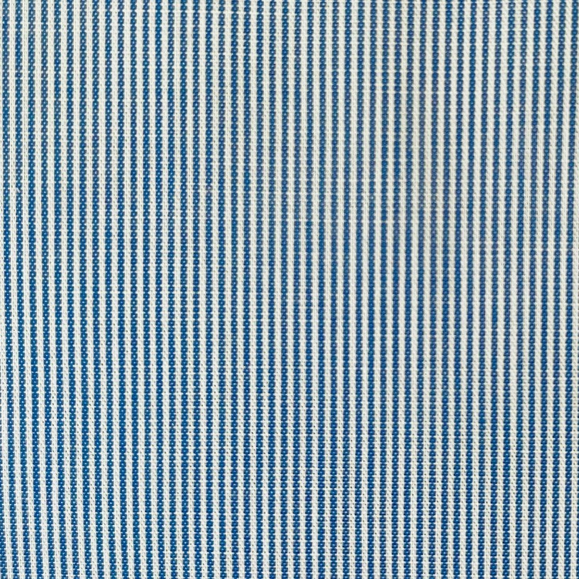 Fabric Chambray Blue and White fine Stripe